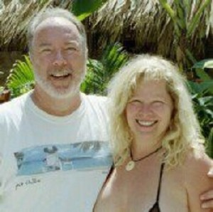 Tony & Cheri owners of Luna Blue Hotel in Playa del Carmen Mexico