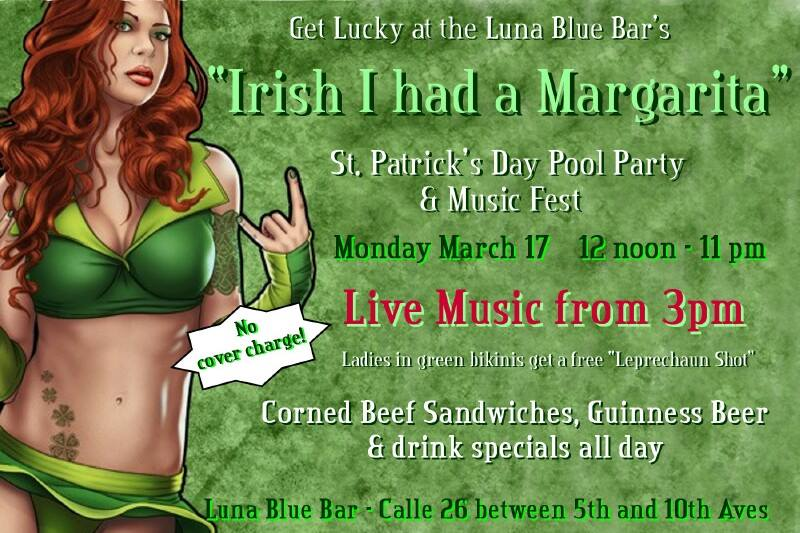 St. Paddy's Day 2014 at the Luna Blue in Playa del Carmen